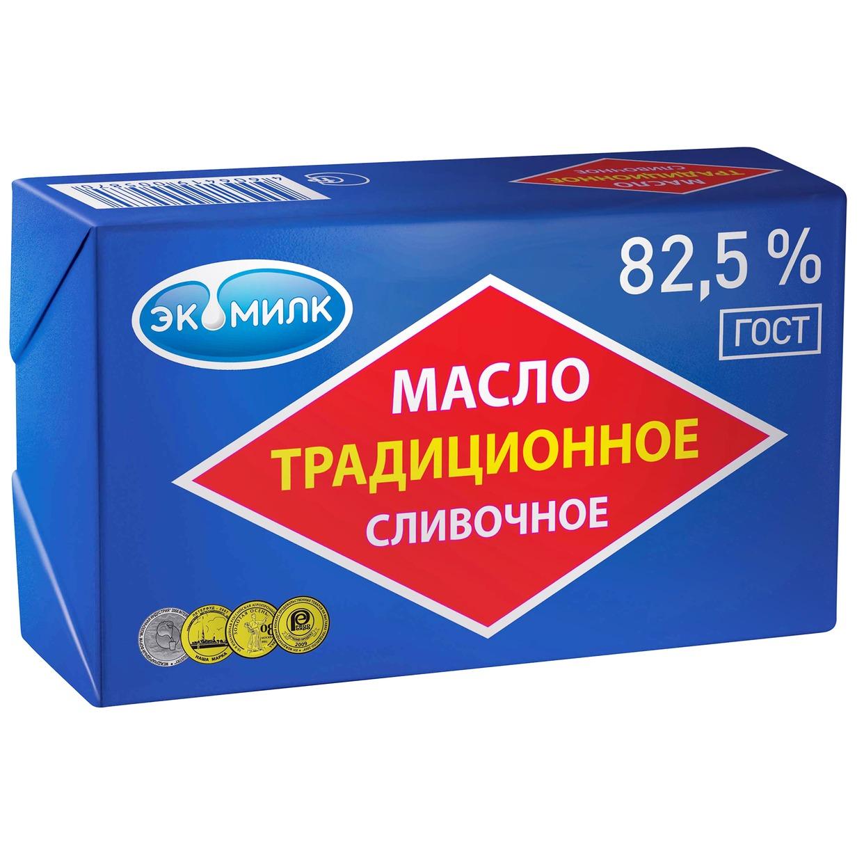 Масло сливочное Экомилк, 82,5%, 180 г