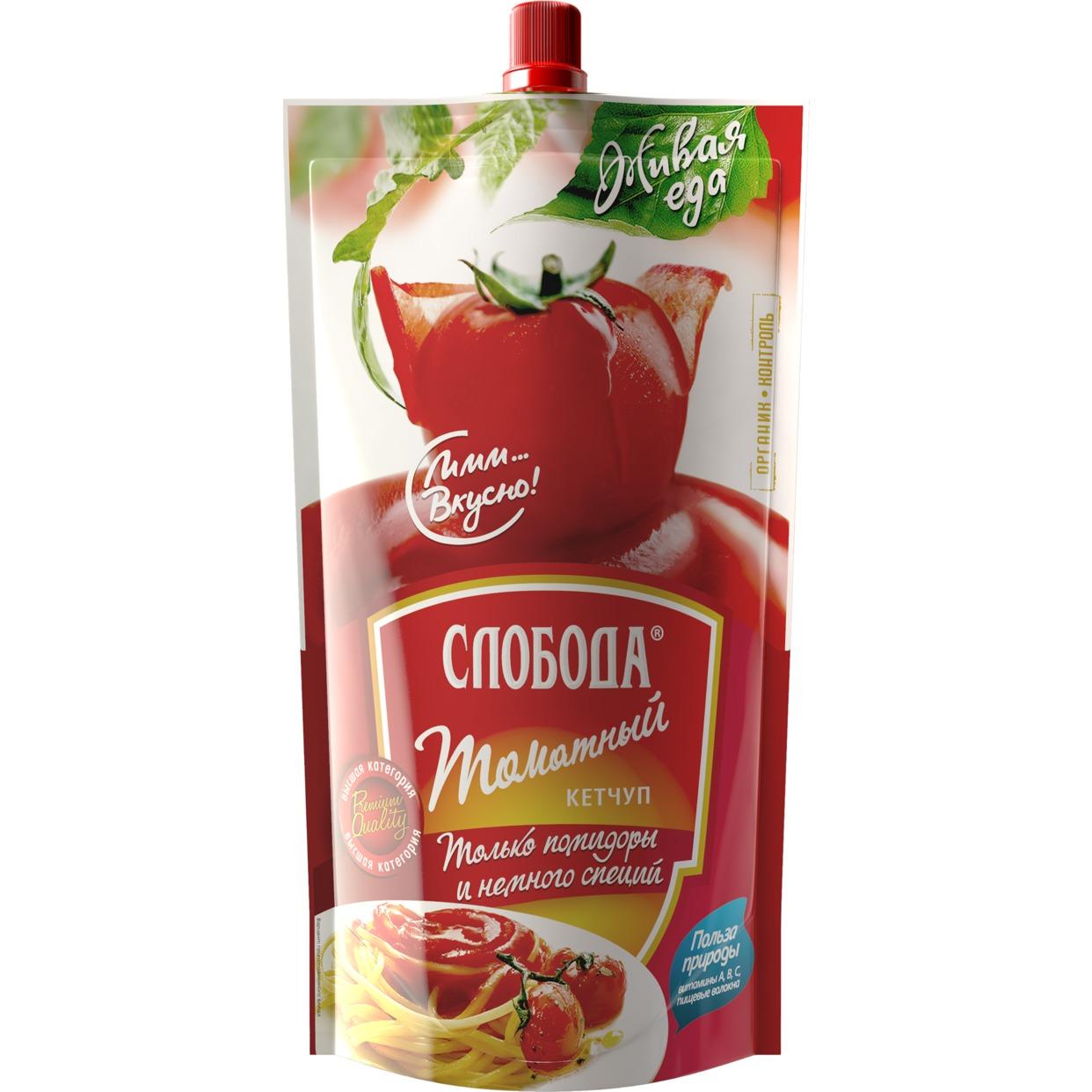 Кетчуп Слобода, томатный, 350 г