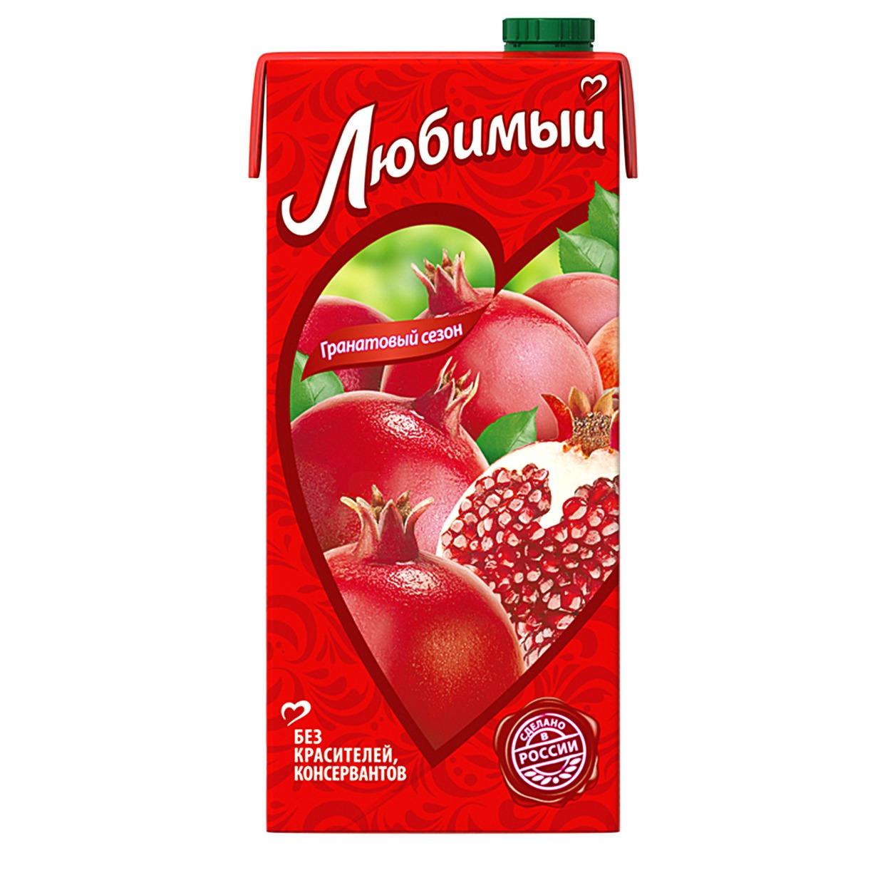 Напиток Любимый, яблоко-гранат, 0,95 л